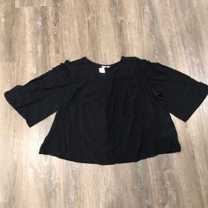 Gap Black Blouse-NWT-Size L